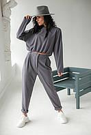 Лаконичный костюм-двойка Etica - серый цвет, XS (есть размеры), фото 1
