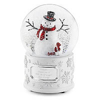 Музыкальный  стеклянный шар  автоснег Снеговик