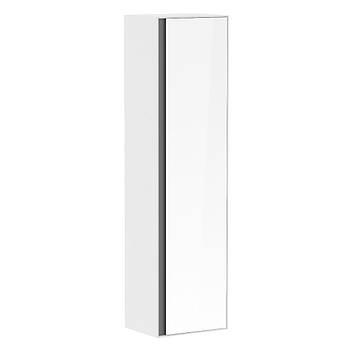 Пенал 150*40*35см, подвесной, с зеркалом, белый (мебель под умывальник VERITY LINE)