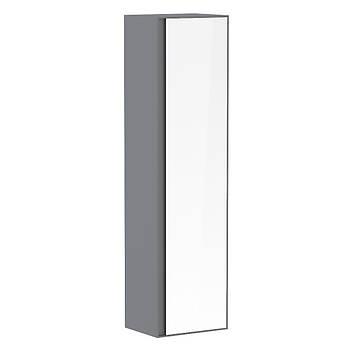 Пенал 150*40*35см, подвесной, с зеркалом, серый (мебель под умывальник VERITY LINE)