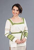 Женская вышитая блуза под пояс, размер 44