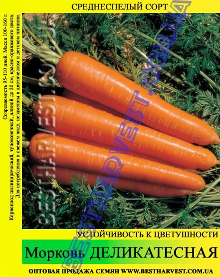 Семена моркови Деликатесная 1 кг