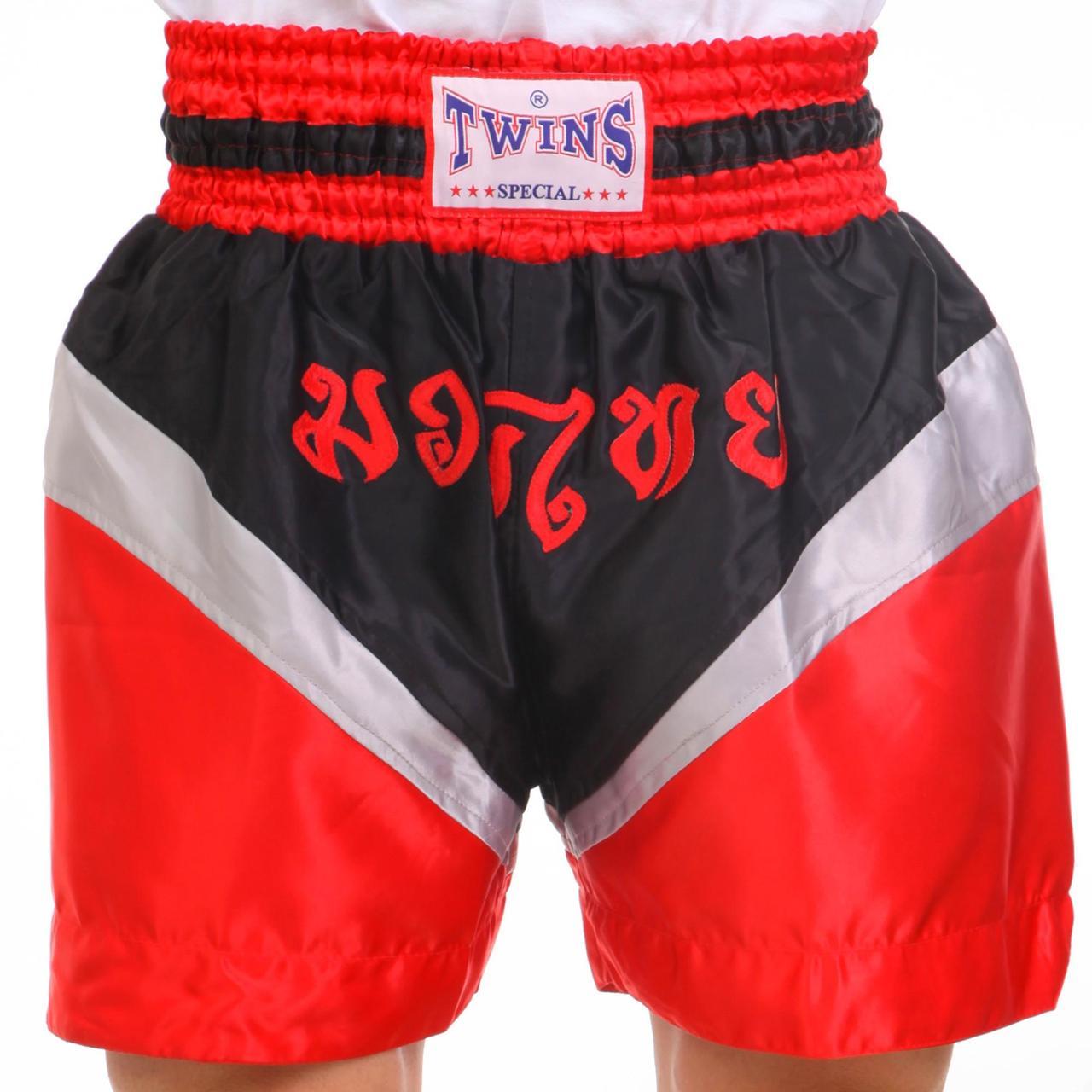 Шорты для тайского бокса и кикбоксинга TWN ZB-6142 (полиэстер, р-р M-XL (46-52), цвета в ассортименте)