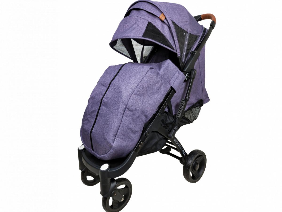 Прогулянкова Коляска Yoya Plus Max 2021 Фіолетова рама чорна