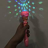 Микрофон музыкальный для деток с подсветкой. Цвет: розовый, фото 2