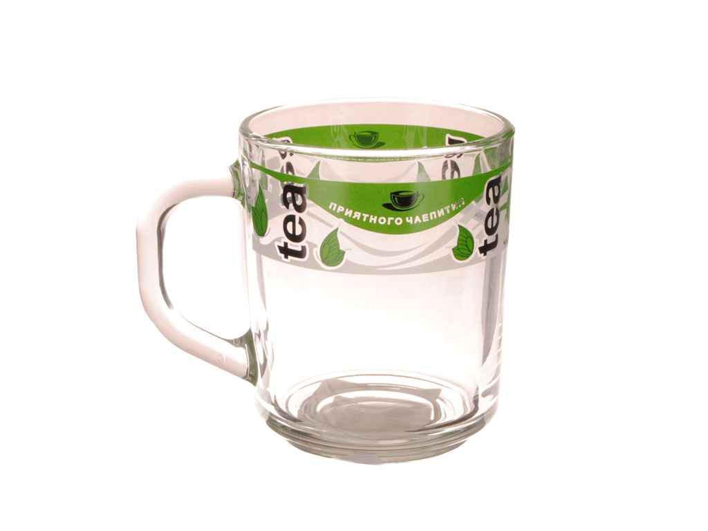 """Чашка стеклянная 200 мл Зеленый чай """"ОСЗ"""""""