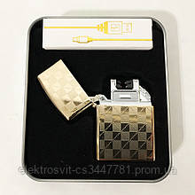 Электроимпульсная USB зажигалка HONGLU (квадратики)