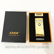 """USB зажигалка в подарочной упаковке """"Jouge"""" XT-4953. Цвет: золотой"""
