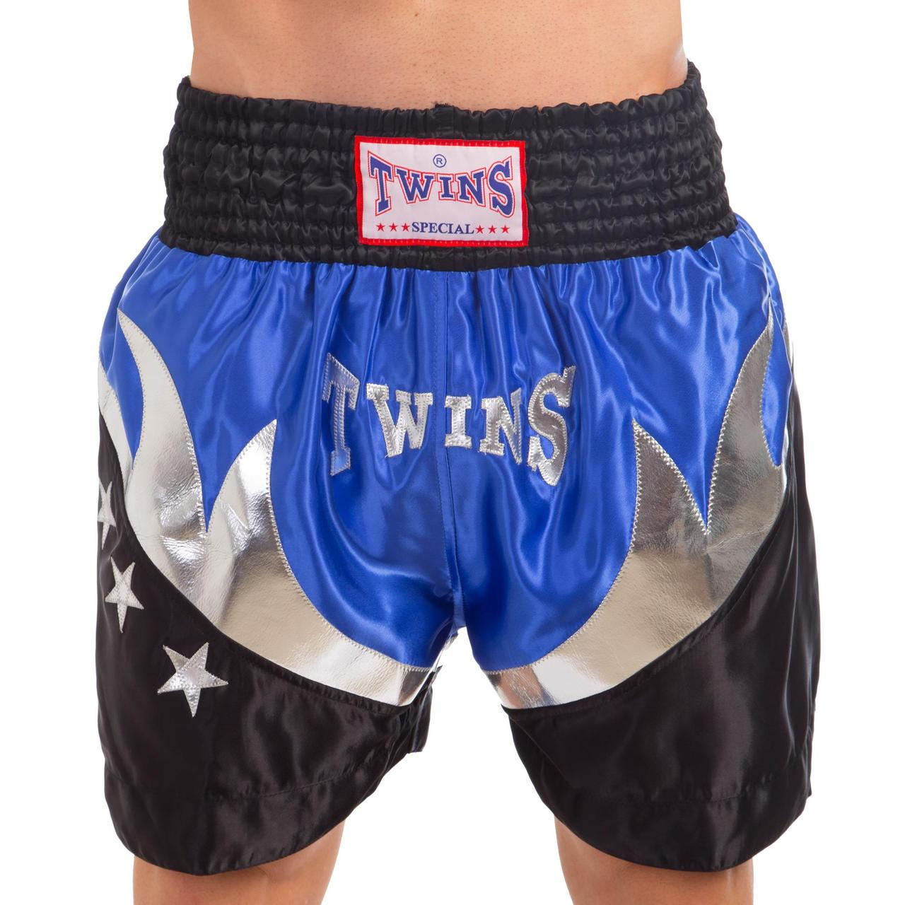 Шорты для тайского бокса и кикбоксинга TWN ZB-6141 (полиэстер, р-р M-XL (46-52), цвета в ассортименте)