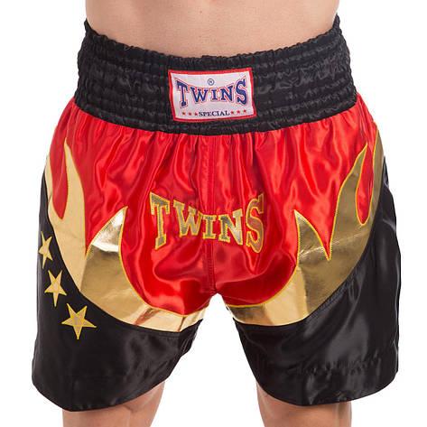 Шорты для тайского бокса и кикбоксинга TWN ZB-6141 (полиэстер, р-р M-XL (46-52), цвета в ассортименте), фото 2