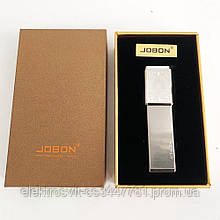 USB зажигалка в подарочной упаковке Jobon XT-4875 (Двухсторонняя спираль накаливания). Цвет: серебро