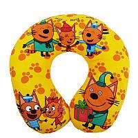 """Детская подушка в дорогу """"Три кота"""""""