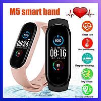 Смарт годинник, Xiaomi Mi band 5, Fitnes tracker M5, часы для фитнеса smart watch Фитнес трекер РЕПЛИКА 444