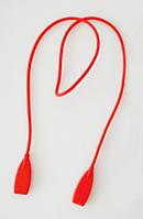 Шнурок / хлястик силиконовый на дужки очков для ношения на шее / страховки от падения / длинный 52 см КРАСНЫЙ