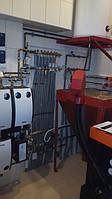 Топочная - конденсационный котел Buderus GB042 + автоматика управления RC35 + пеллетный котел OPOP H435 2
