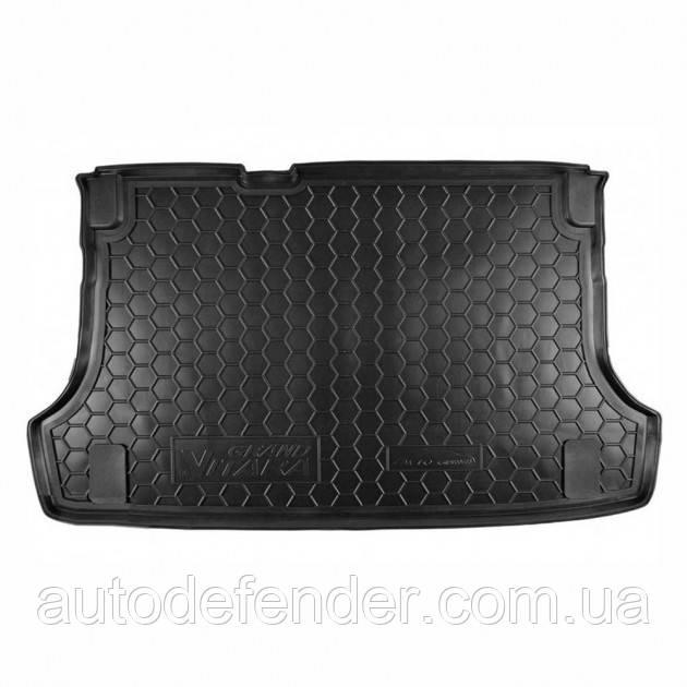 Коврик в багажник для Suzuki Grand Vitara 2006- (5 дверей), резиновый (полиуретановый) Avto-Gumm