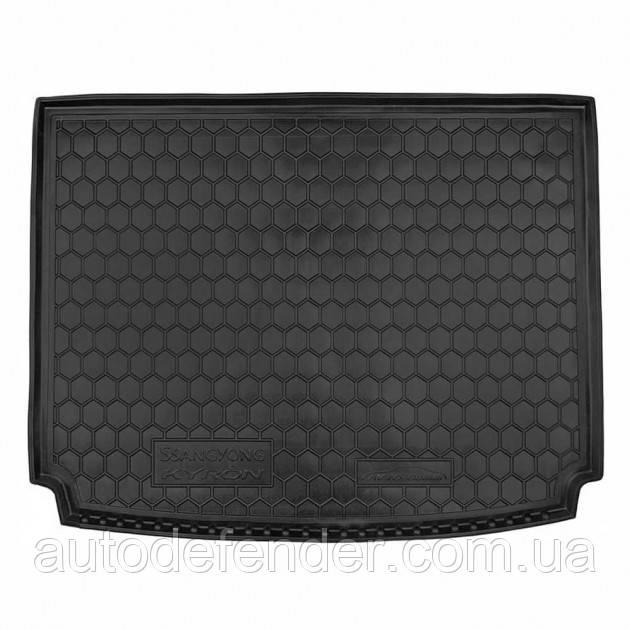 Коврик в багажник для Ssangyong Kyron 2008-15, резиновый (полиуретановый) Avto-Gumm