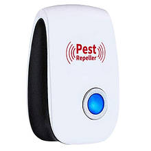 Отпугиватель грызунов и насекомых ультразвуковой Pest Repeller сетевой Белый (hub_CynM81918)