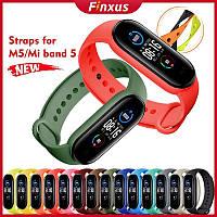 Умные часы Xiaomi Mi band 5, Fitnes tracker M5, часы для фитнеса, smart watch, смарт годинник, РЕПЛИКА Sova