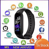 Фитнес трекер Xiaomi Mi band 5, Fitnes tracker M5, часы для фитнеса, smart watch смарт годинник РЕПЛИКА Sova
