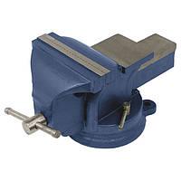 ✅ Тиски слесарные поворотные синие 100мм Miol 36-200