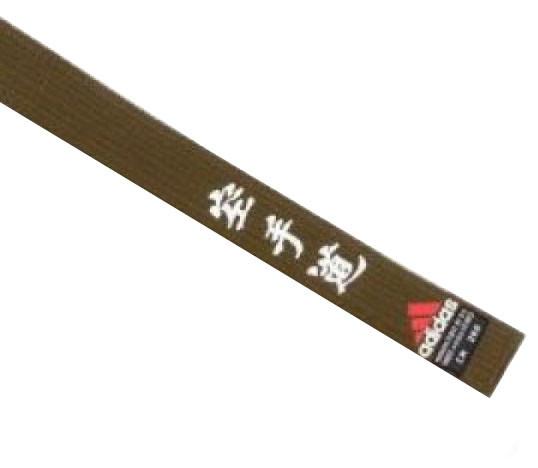 Пояс для кимоно Adidas Elite с вышивкой дзюдо коричневый (adiB242), фото 1