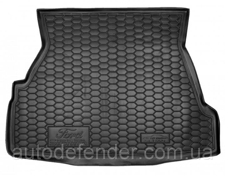 Коврик в багажник для Ford Sierra 1987-1993, резиновый (полиуретановый) Avto-Gumm