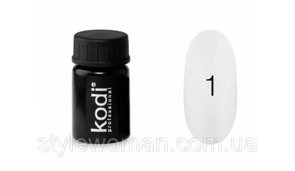 """Гель-краска для ногтей """"Kodi professional"""" №1 белая"""