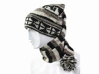 Вязаная шапка шарф