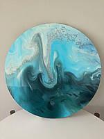 Набор для рисования в технике Fluid Art (Жидкий акрил) Azure Breeze 30см круг