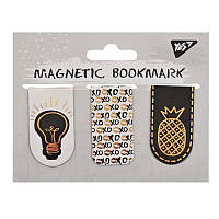 """Закладки магнитные YES """"Golden mark"""", фольга, 3шт"""