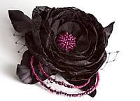Черная заколка с вуалью
