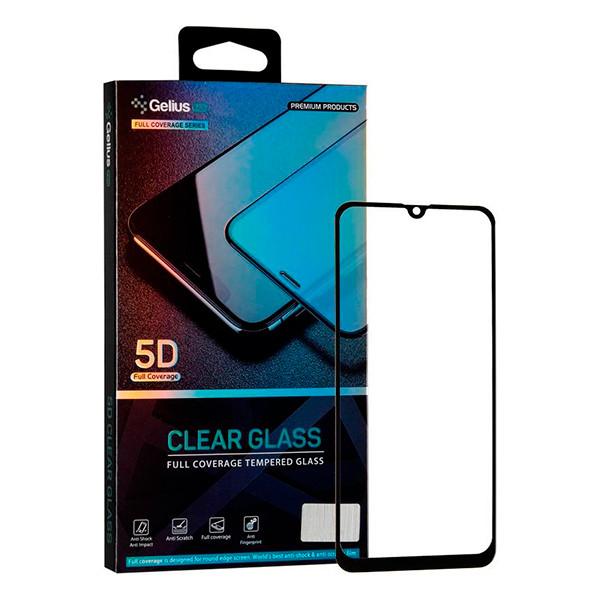 Захисне скло Samsung Galaxy A20/A30s/A50/A50s/M30/M30s/M31 5D прозоре (Чорне) Gelius Pro