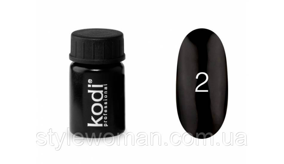 """Гель-краска для ногтей """"Kodi professional"""" №2 черная"""