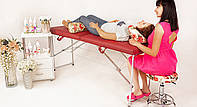 Кушетки для косметологов / Кушетка для массажа переносная. 185х60 см. Эко-кожа Италия, Люкс