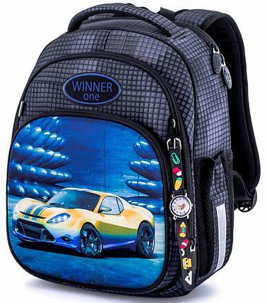 Шкільний ранець для хлопчика в 1-4 клас рюкзак ортопедичний 29*36 см Winner One 7008, фото 2