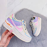 Женские / подростковые кроссовки Nike бежевые натуральная кожа +эко-кожа, фото 5