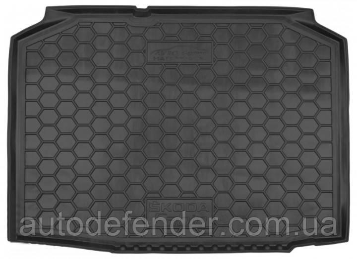 Килимок в багажник для Skoda Fabia 1999-07 хетчбек, гумовий (AVTO-Gumm)