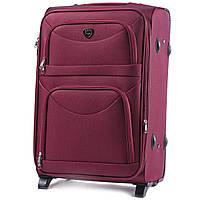 Дорожный текстильный чемодан Wings 6802 размер М (средний) бордовый, фото 1