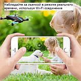 Квадрокоптер селфи-дрон JY018 с Wi-Fi-камерой, фото 8