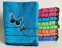 Полотенце 140*70 великий для бани Махра для сауны, рушник бавовна великий для бані