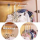 Універсальна складна вішалка для одягу Wonder Hanger | Вандер Хэнджер для економії місця, фото 3
