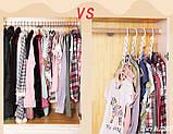 Універсальна складна вішалка для одягу Wonder Hanger | Вандер Хэнджер для економії місця, фото 6