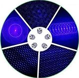 Лазерная указка с насадками Blue Laser B017 Синяя   лазер в кейсе, фото 2