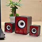 Компьютерные колонки акустика IS 12 220v Красные | акустические мощные колонки | музыкальная колонка, фото 2