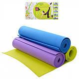 Классический многофункциональный коврик для йоги M 0380-3 Фиолетовый | йогамат | йога мат | коврик для фитнеса, фото 4
