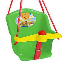 Дитяча гойдалка з пискавкою Технок 1790 Сонечко Зелена   гойдалка для дитини   пластикова підвісна гойдалка