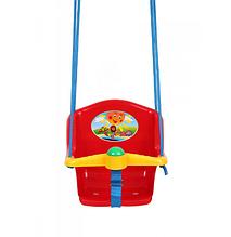 Дитяча гойдалка з пискавкою Технок 1790 Сонечко Червона   гойдалка для дитини   пластикова підвісна гойдалка