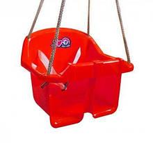 Дитяча гойдалка Малюк Технок 3015 Червона   гойдалка для дитини   пластикова підвісна гойдалка