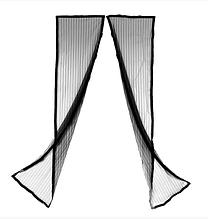 Анти москітна сітка штора на магнітах magik mash кольорова ЧОРНА